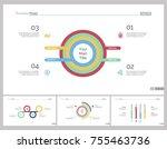 four finance slide templates set   Shutterstock .eps vector #755463736