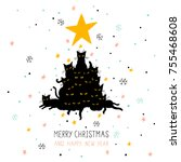 Cute Christmas Card With...