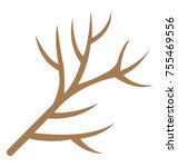 dry twig flat icon  | Shutterstock .eps vector #755469556