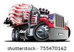 vector cartoon mixer truck... | Shutterstock .eps vector #755470162