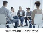 man talking to a...   Shutterstock . vector #755487988