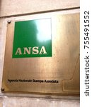 Small photo of Rome, Italy - November 9, 2017: Agenzia Nazionale Stampa Associata sign. Ansa is the leading wire service in Italy, and one of the leaders among world news agencies