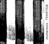 vector black and white grunge... | Shutterstock .eps vector #755497528