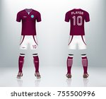 3d realistic of front and back... | Shutterstock .eps vector #755500996