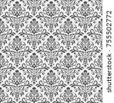 black and white vintage... | Shutterstock .eps vector #755502772