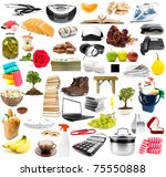 the big collection of different ... | Shutterstock . vector #75550888