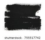 handmade black strokes ... | Shutterstock . vector #755517742