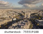 cityscape of paris. aerial view ... | Shutterstock . vector #755519188
