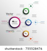 abstract infographics number... | Shutterstock .eps vector #755528476