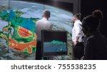 group of scientists... | Shutterstock . vector #755538235