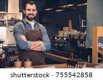 portrait of smiling man... | Shutterstock . vector #755542858