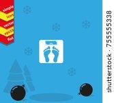 weighting icon. weight watchers ... | Shutterstock .eps vector #755555338