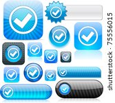 mark  shiny set of buttons. | Shutterstock . vector #75556015