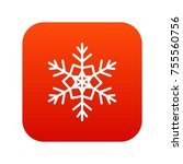 snowflake icon digital red for... | Shutterstock .eps vector #755560756