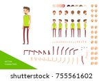 stylish male character design... | Shutterstock .eps vector #755561602