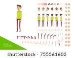stylish male character design... | Shutterstock .eps vector #755561602