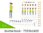 stylish male character design...   Shutterstock .eps vector #755561605
