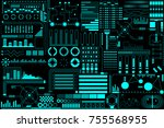 hud futuristic elements... | Shutterstock .eps vector #755568955