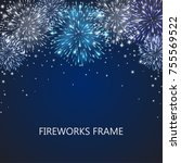 fireworks light effect frame ...