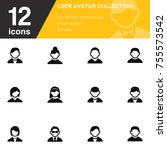 user avatar icon collection...   Shutterstock .eps vector #755573542