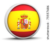 spanish flag with circular... | Shutterstock . vector #75557686