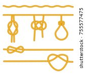 rope knots collection.... | Shutterstock .eps vector #755577475