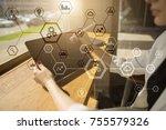 business structure diagram ... | Shutterstock . vector #755579326