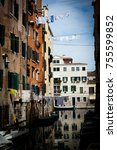 Small photo of Venice canal and gondolas