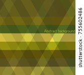 simple brown  yellow and green...   Shutterstock .eps vector #755602486