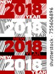 template of new year poster...   Shutterstock .eps vector #755606896