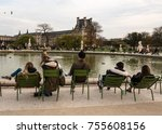 paris  france    november 3 ... | Shutterstock . vector #755608156