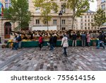 paris  france    november 4 ... | Shutterstock . vector #755614156