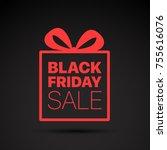 black friday sale red logo.... | Shutterstock .eps vector #755616076