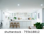 a kitchen is a room or part of... | Shutterstock . vector #755618812