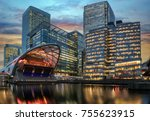 the financial district canary... | Shutterstock . vector #755623915