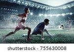 children play soccer. mixed...   Shutterstock . vector #755630008