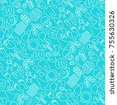 human internal organs seamless... | Shutterstock .eps vector #755630326