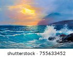 Morning On Sea  Wave ...