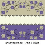 greeting card with floral...