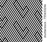 vector seamless pattern. modern ... | Shutterstock .eps vector #755653246