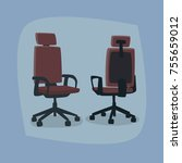 set of isolated office chairs... | Shutterstock .eps vector #755659012