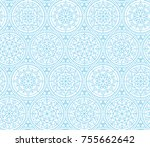 pale color snowflakes xmas and... | Shutterstock .eps vector #755662642