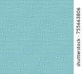 seamless abstract blue maze...   Shutterstock .eps vector #755663806