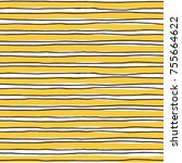 seamless pattern with yellow... | Shutterstock .eps vector #755664622