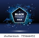 black friday sale discount... | Shutterstock .eps vector #755666452