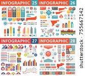 infographic business design... | Shutterstock .eps vector #755667142