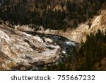 grand canyon of yellowstone... | Shutterstock . vector #755667232