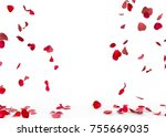 Stock photo rose petals fall to the floor isolated background 755669035