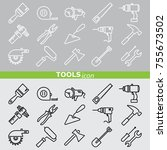 web icons set. tools | Shutterstock .eps vector #755673502