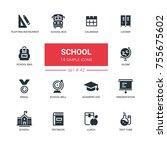 school concept   line design... | Shutterstock .eps vector #755675602
